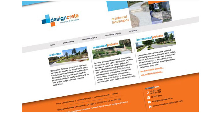 Designcrete Website