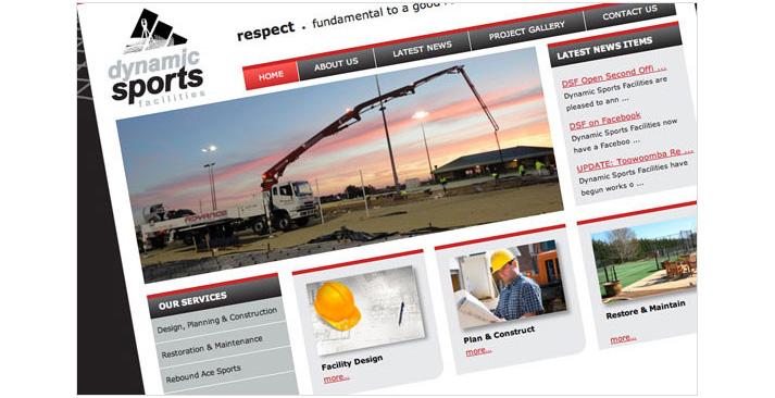 Dynamic Sports Facilities Website