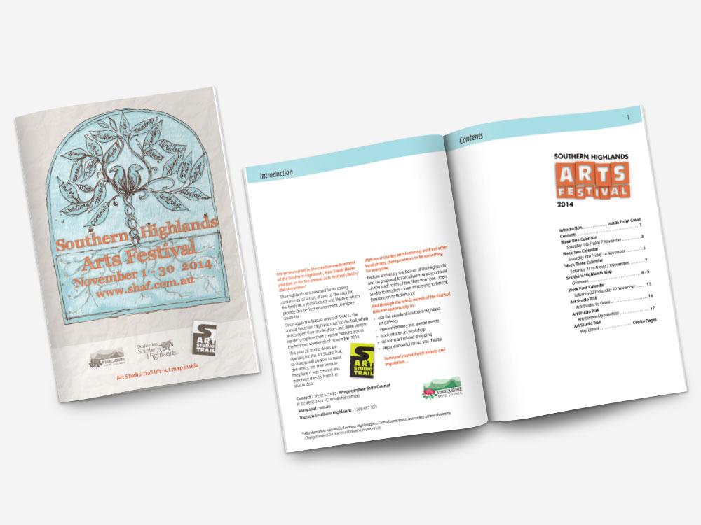 Southern Highlands Arts Festival Brochure