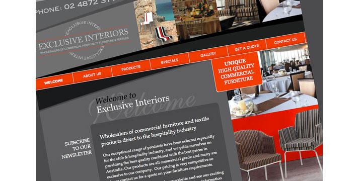 Exclusive Interiors Website