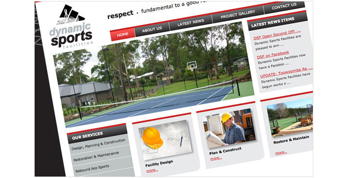 Dynamic Sports Facilities Website