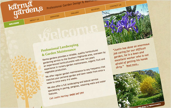 Karma Gardens Website
