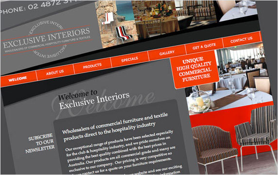 Exclusive Interiors Website