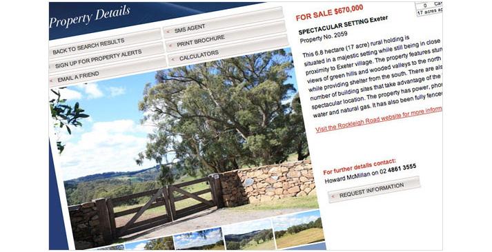 Mcmillan Real Estate Website